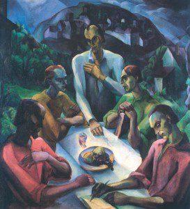 Derkovits Gyula: Utolsó vacsora (1922)