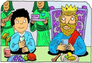 Mefibóset Dávid asztalánál