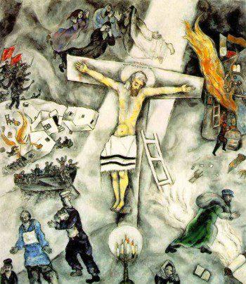 Chagall: Fehér keresztrefeszítés