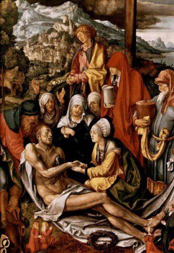 Dürer: A keresztről levett Krisztus