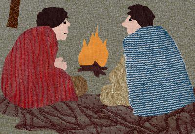 Pásztorok textilkép
