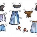 József ruhái – színes és színezős, kivágós, öltöztetős makett