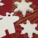 Hófehér, mintás és fűzött csillagok, karácsonyfadíszek
