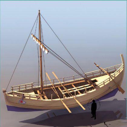 Jézus korabeli hajó modellje