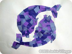 Papírmozaik hal