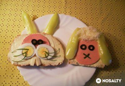Bárányos nyuszis szendvics